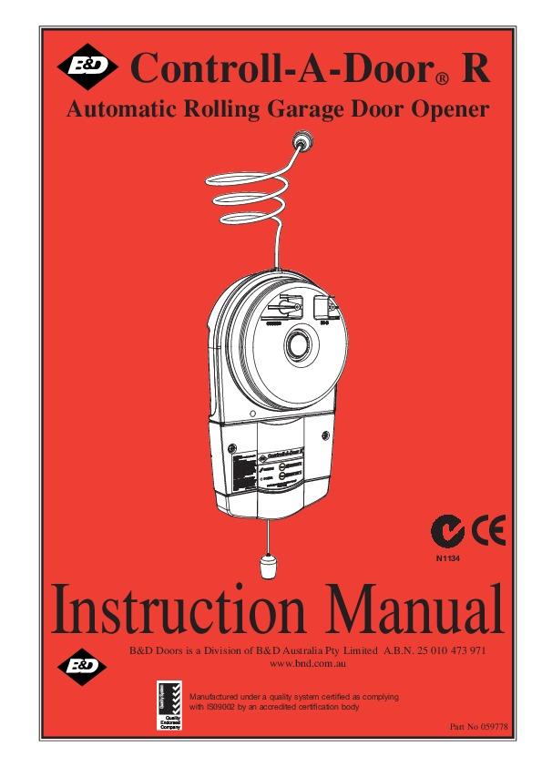 Controll a door p manual